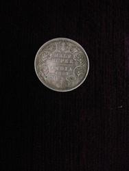 Silver British Indian Coin