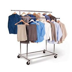 metal designer garment display table