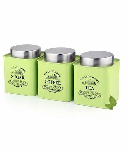 Stainless Steel Tea Coffee Sugar Set At