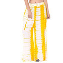 White And Yellow Ladies Tie Dye Palazzo