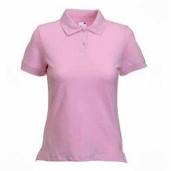 e8478248e3b Ladies Pink Collar T-Shirt