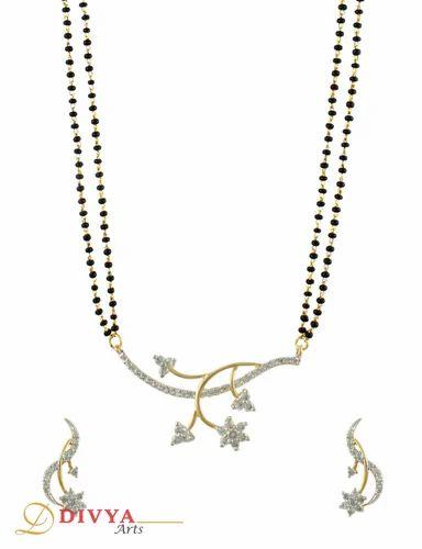 Star shaped mangal sutra pendant set at rs 527 piece pratap star shaped mangal sutra pendant set mozeypictures Choice Image