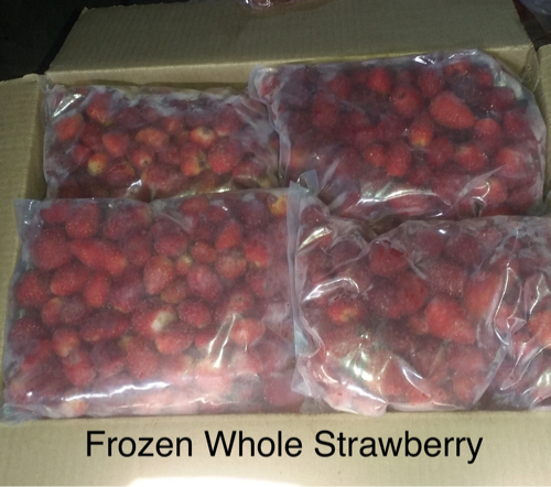 frozen whole strawberry