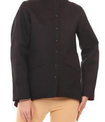 Black Viscose Straight Jacket