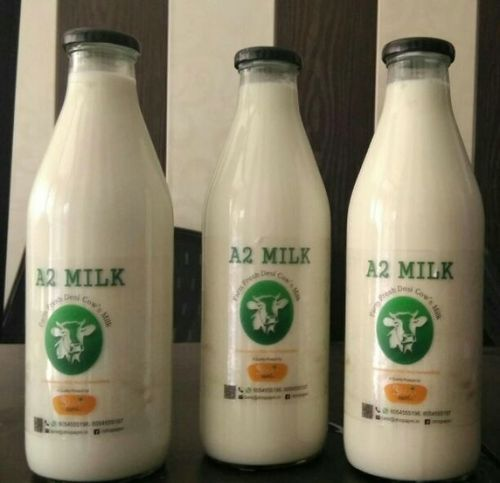 Desi Cow A2 Milk Packaging Type Glass Bottles