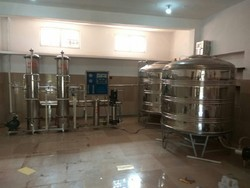 Automatic Stainless Steel RO Plant Only SS Filter 40000 Liter Tank