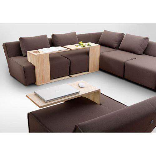 Brown L Shape Modular Sofa Set