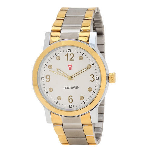 Swiss Trend Latest  Mens Wrist Watch With White Dial