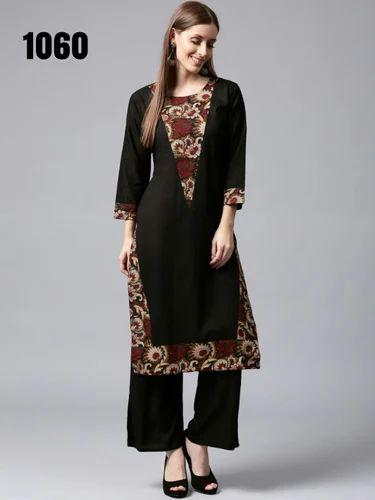 65898bb24be3 Ladies Printed Palazzo Kurti Dress