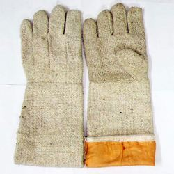 Asbestos Hand Gloves With Woolen Lining