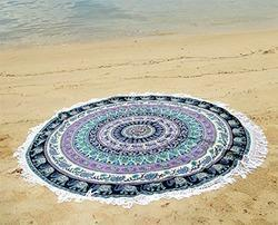 Round Printed Bed Sheet