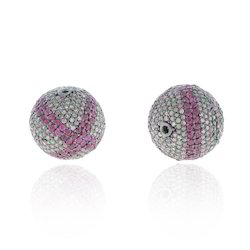 Diamond Ruby Ball Beads Findings