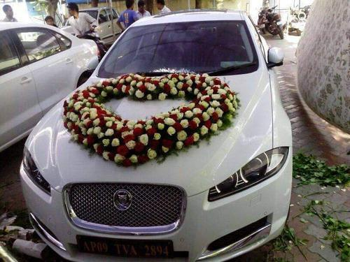 Wedding car decoration reception decoration service provider wedding car decoration junglespirit Image collections