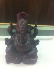 Ganpati Staute of Ruby Gemstone
