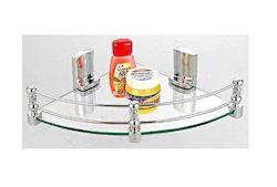 Ciplaplast Triangle Corner Glass Shelf, For Bathroom, 1