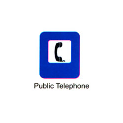 Public Telephone Signs