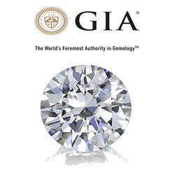GIA Certified Real Round Cut Diamond
