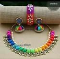 Multicolor Silk Thread Jwellery
