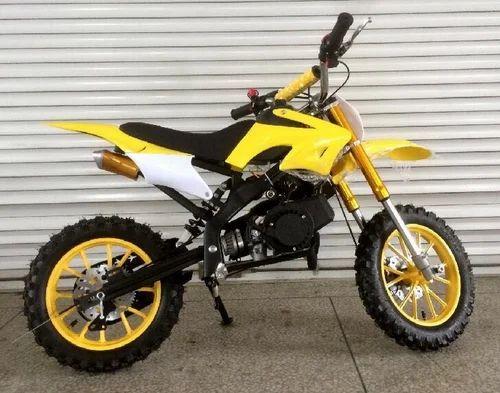 Yellow Dirt Petrol Bike