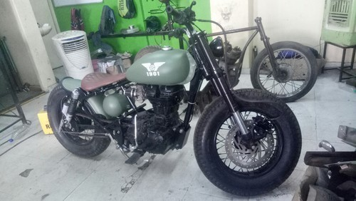 Customised Bullet In Bobber Style in Pune, GV Custom | ID