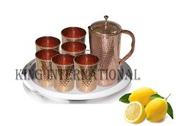 Copper Lemon Set With Tray