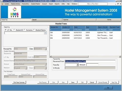 Hostel management system software in hadapsar pune admitcs pvt hostel management system software ccuart Choice Image