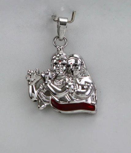 Silver radha krishna pendant chandi pendent dharam gems silver radha krishna pendant aloadofball Gallery