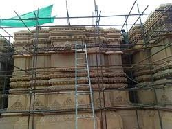 Sand Stone Mandir Construction