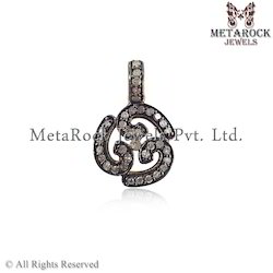 Pave Diamond Om Pendant and Charm
