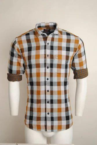 ae8b3e7e8 Medium And Large Cotton Multi Coloured Checked Urban Design Casual Shirts