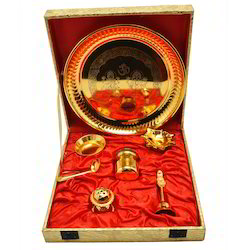 Gold Plated Brass Pooja Thali