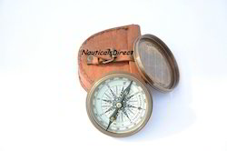Hand Made Vintage Style Nautical Poem Compass With Leather C