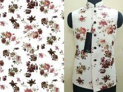 Daga group Silicon satin Digital printed fabricd for mens garment