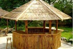 Wood Bamboo Hut