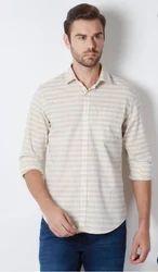 Peter England Cream Shirt