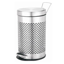 Stainless Steel Silver Color Perforated Pedal Bin