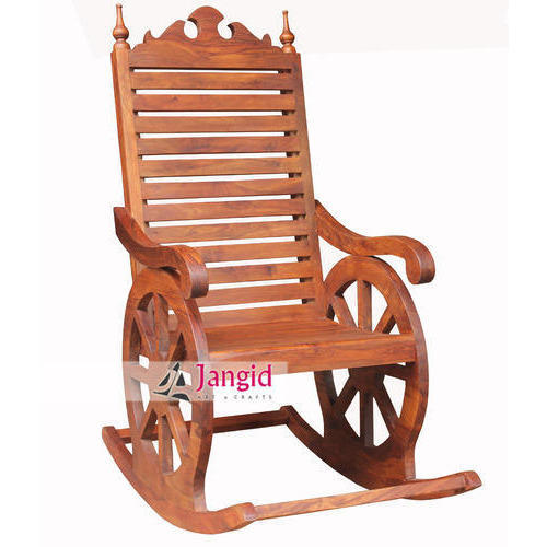 Jangid Art And Crafts Sheesham Wooden Wooden Rocking Chair, 75x75x90 Cms, for Home