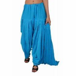 Ladies Blue Patiala Salwar With Dupatta