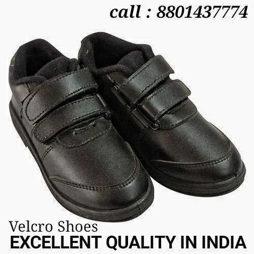 Men Formal Velcro School Shoes, Size: 3