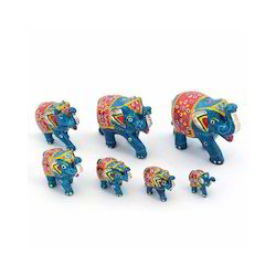 Handcrafted Paper Mache Elephant Set 175