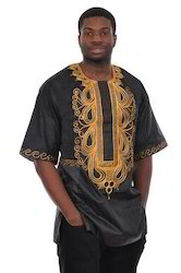 Embroidery Dashiki Bazin Dress