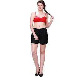 Ladies Black Boxer Shorts