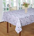 Geometrical Pattern Printed Table Cloth with Attached Border