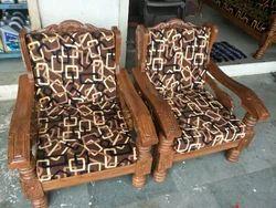 Wood Sagwan Wooden Sofa Set