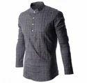 Mens Casual Chinese Collar Shirts