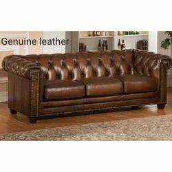 Elegant Genuine Leather Sofa Fabric
