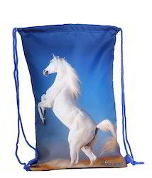 Horse Printed Drawstring Bags