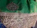 Green Designer Border Sarees