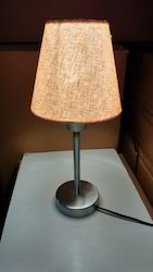 SS Table Lamp 9 Inch Height 6 Inch Dia Shade