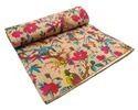 New Indian Designer Floral Coton Kantha Bedspread Gudri
